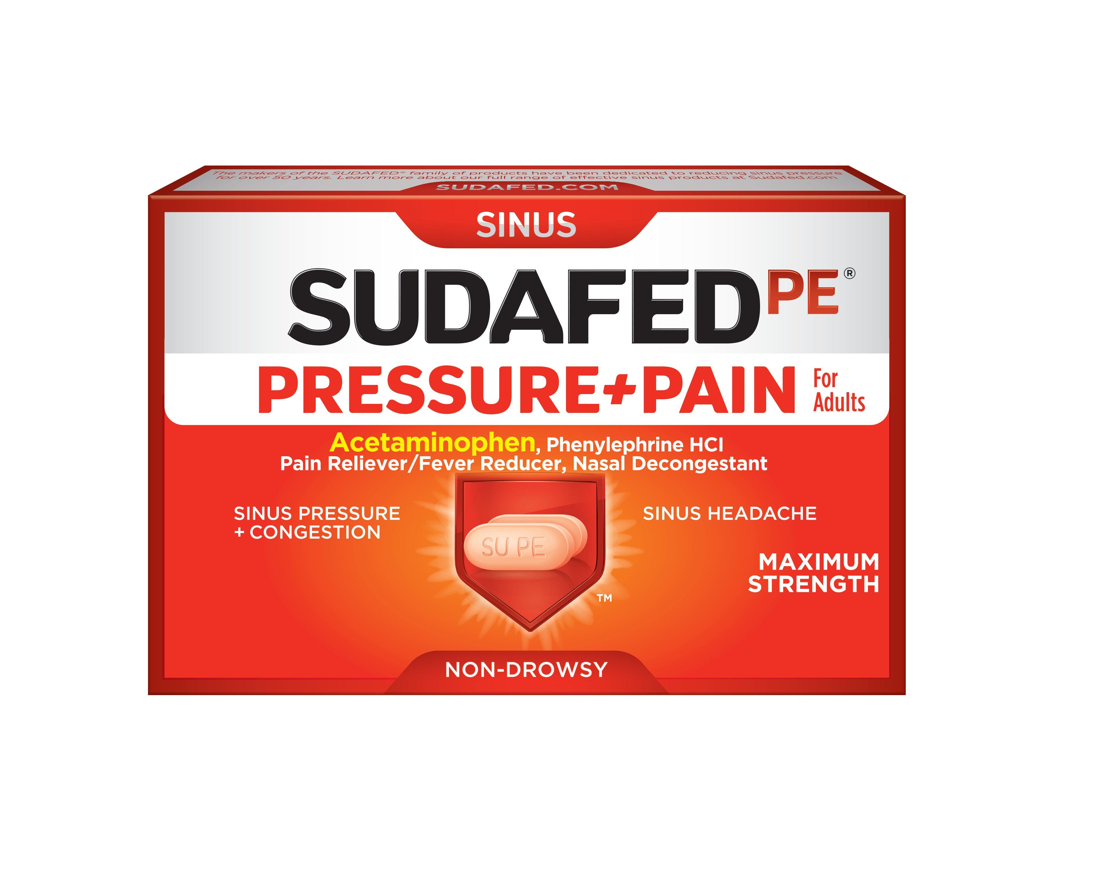 SUDAFED PE® PRESSURE+PAIN