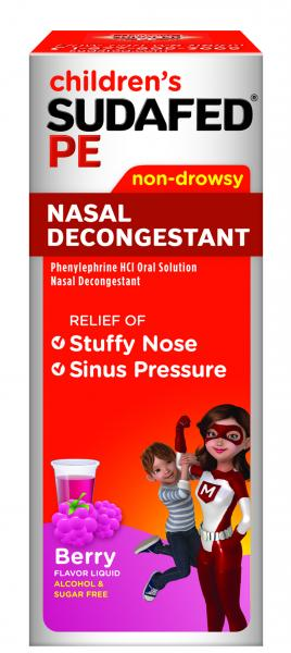 Children's SUDAFED PE® Nasal Decongestant Berry Liquid