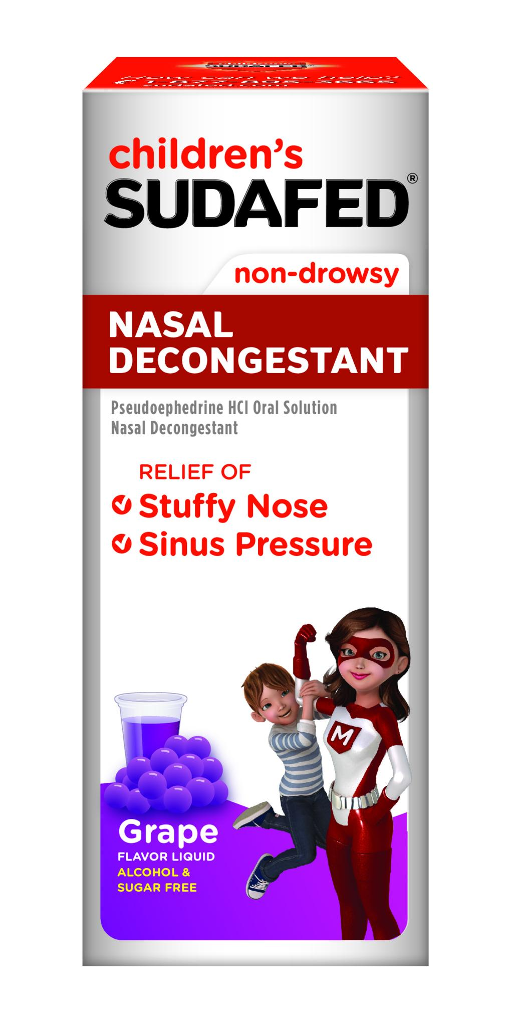 Children's SUDAFED® Nasal Decongestant Grape Liquid
