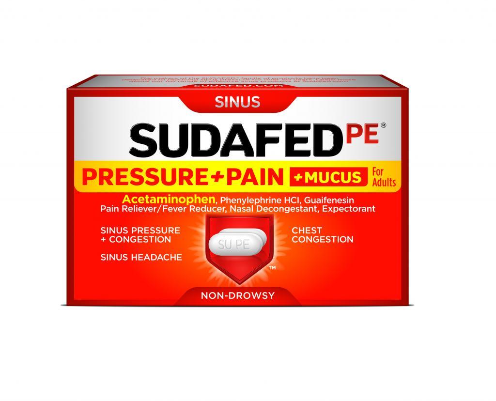 SUDAFED PE® Pressure+Pain+Mucus