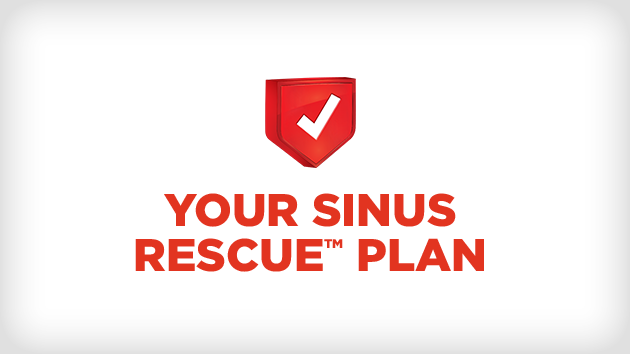 Build your sinus rescue™ plan