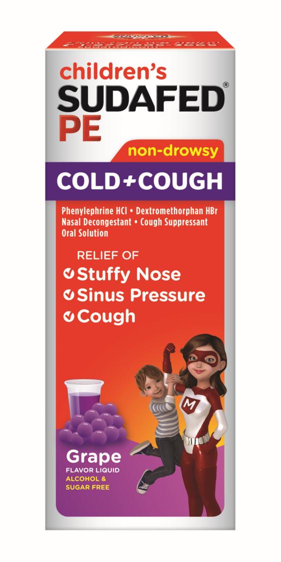 SUDAFED PE® CHILDREN'S COLD & COUGH GRAPE LIQUID
