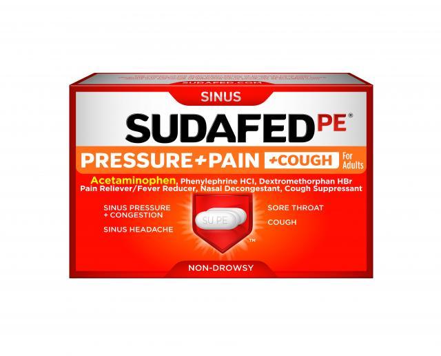 SUDAFED PE® Pressure+Pain+Cough