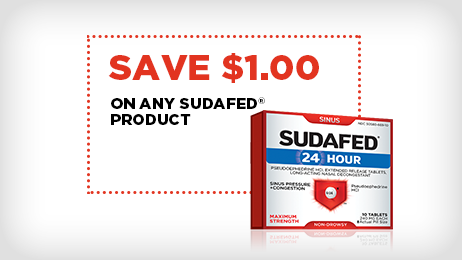 SUDAFED® 24 HOUR Coupon