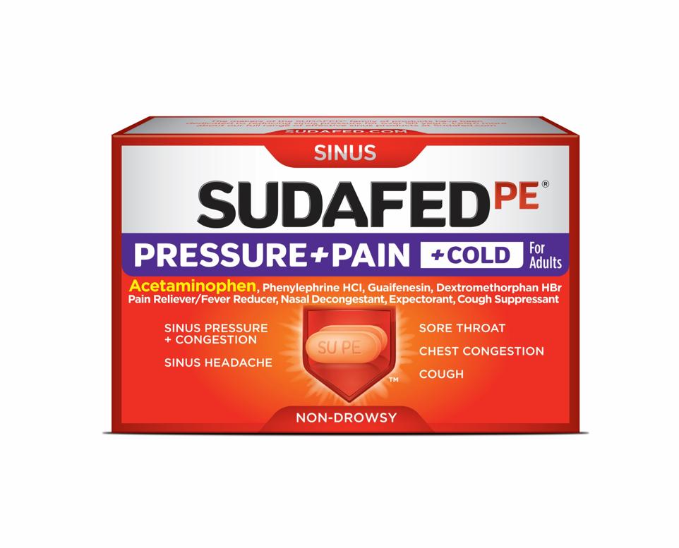 SUDAFED PE® Pressure+Pain+Cold