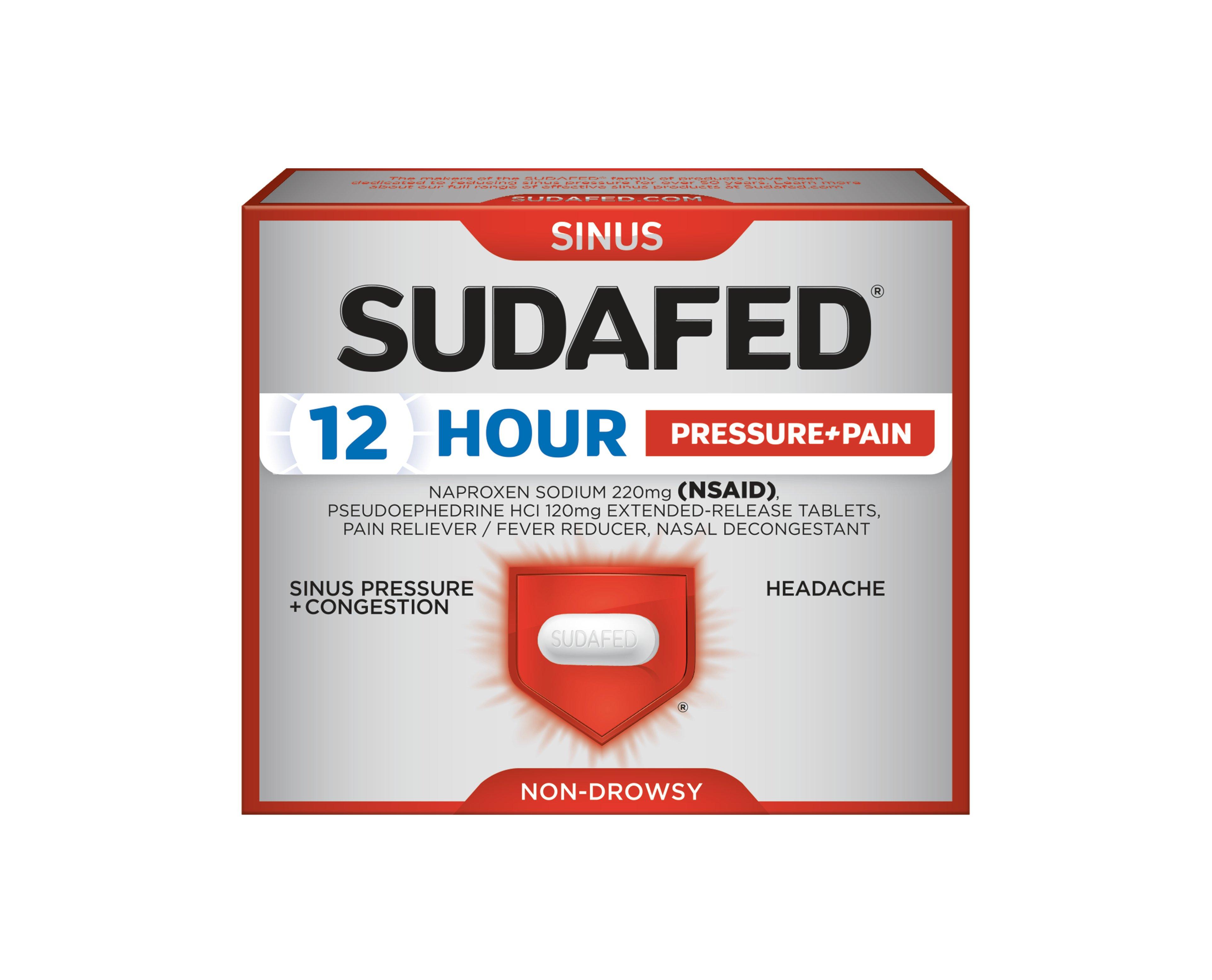 SUDAFED® 12 HOUR PRESSURE+PAIN