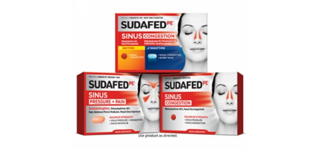 3 packages of Sudafed products